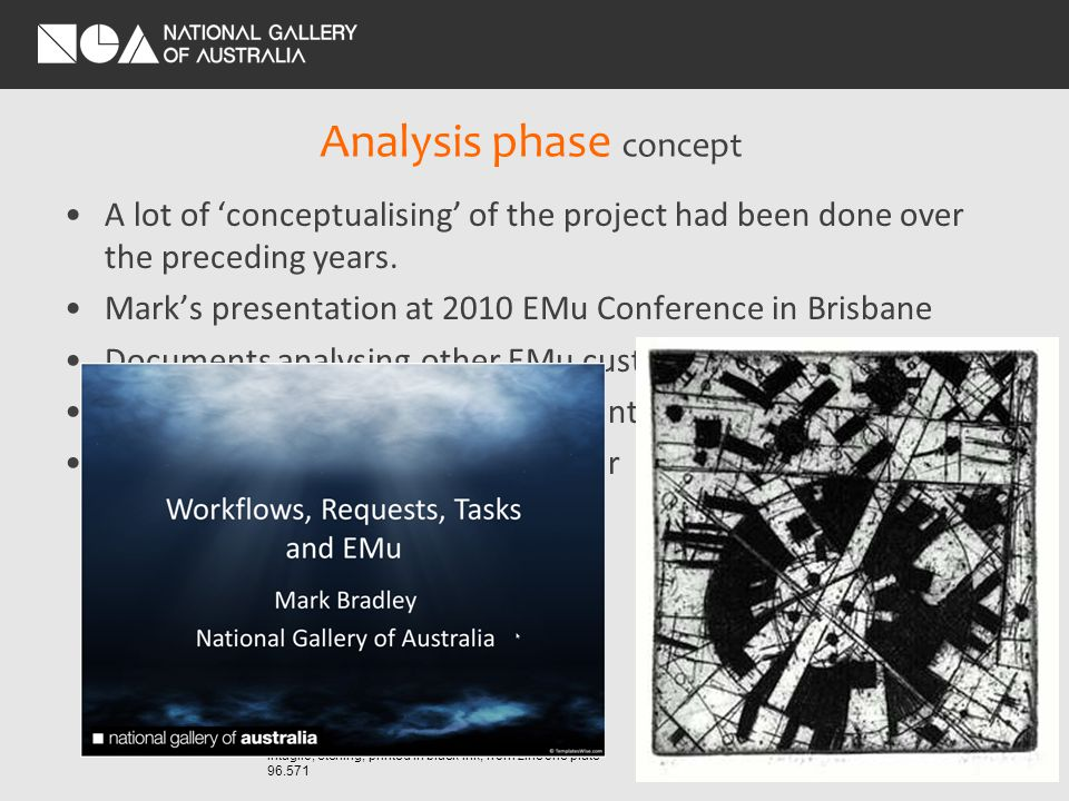 Analysis phase concept A lot of conceptualising of the project had been done over the preceding years.