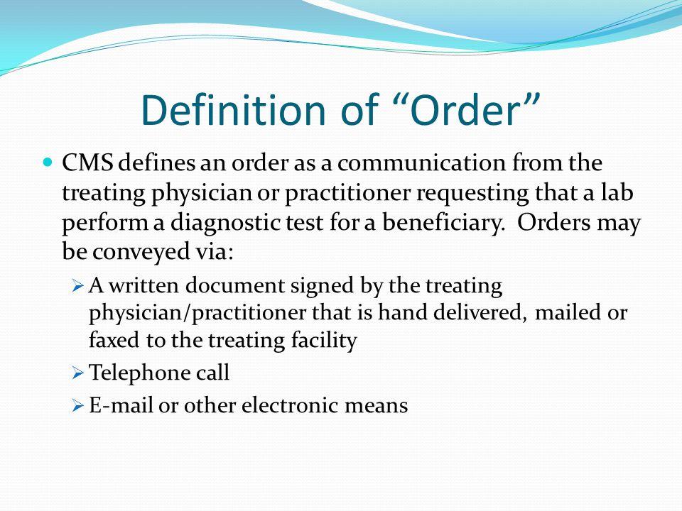 cms telephone orders