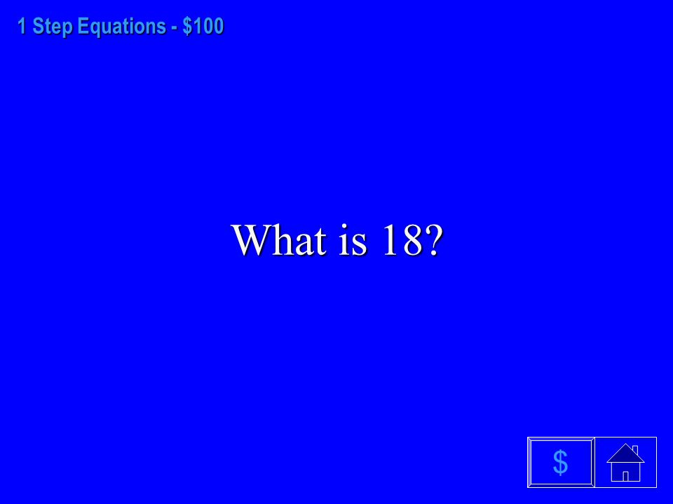 Order of Operations - $500 What is 17 $