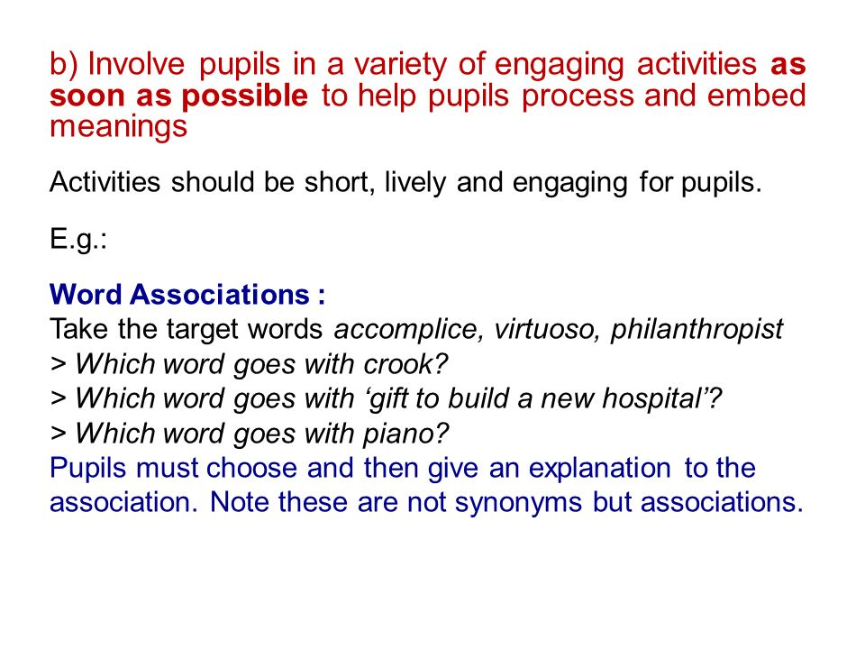 Developing a whole school approach to teaching vocabulary Part 2: Key  Principles & National Literacy Trust - ppt download