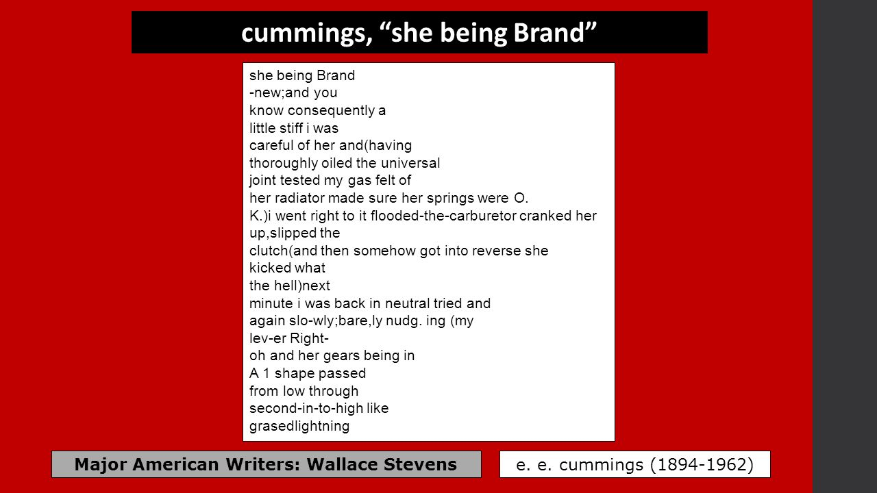 she being brand poem