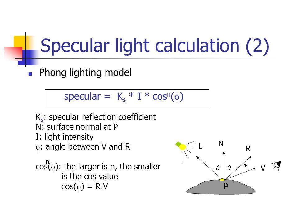 Illumination and Shading  Illumination (Lighting) Model the