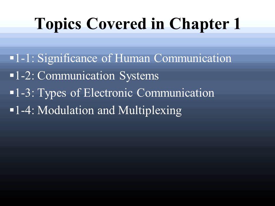 types of electronic communication system