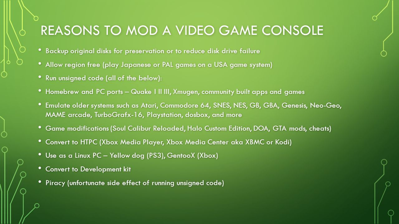 A SHORT HISTORY OF VIDEO GAME CONSOLE HACKING FRED D  DAVID R  - ppt