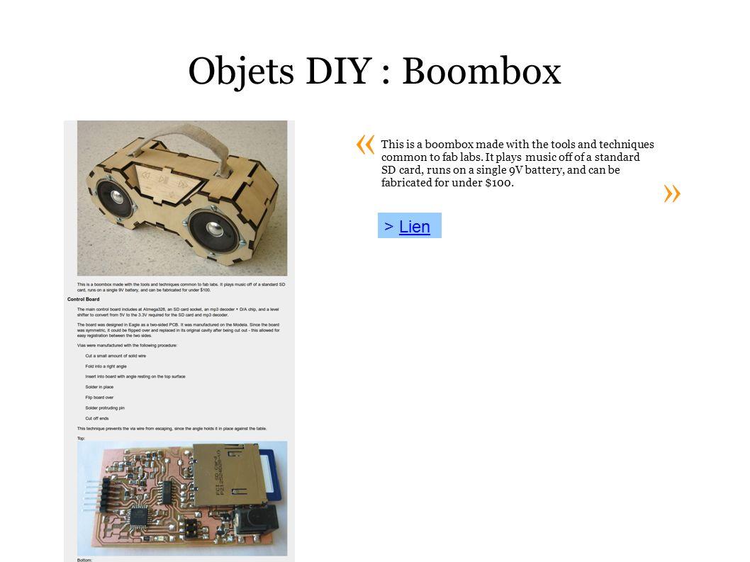 Vie Des Objets Les Communiquants Et La Socit De Diy Boombox Wiring Diagram Lienlien This Is A Made With The Tools And Techniques