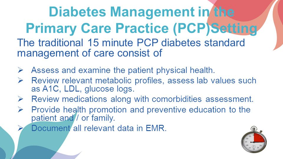 diabetes management in the primary care setting