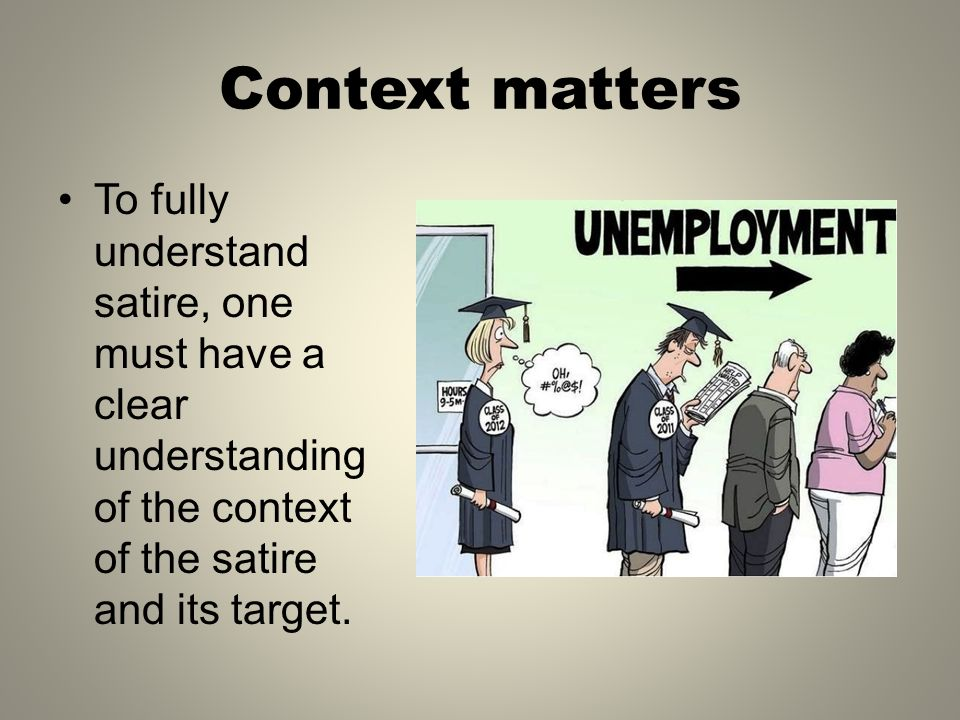 Satire A Brief Overview Visual Text Analysis What Is The Target