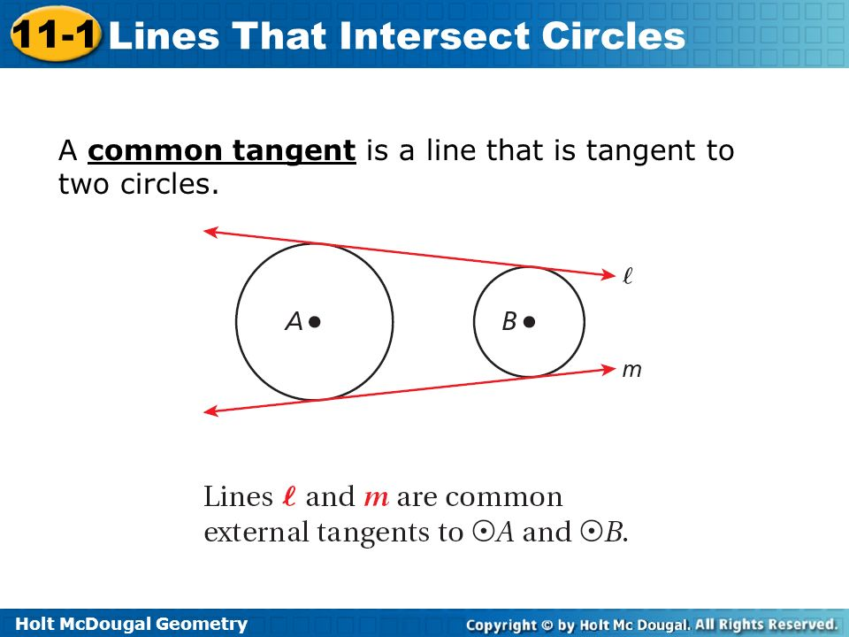 holt geometry 11-1 problem solving lines that intersect circles