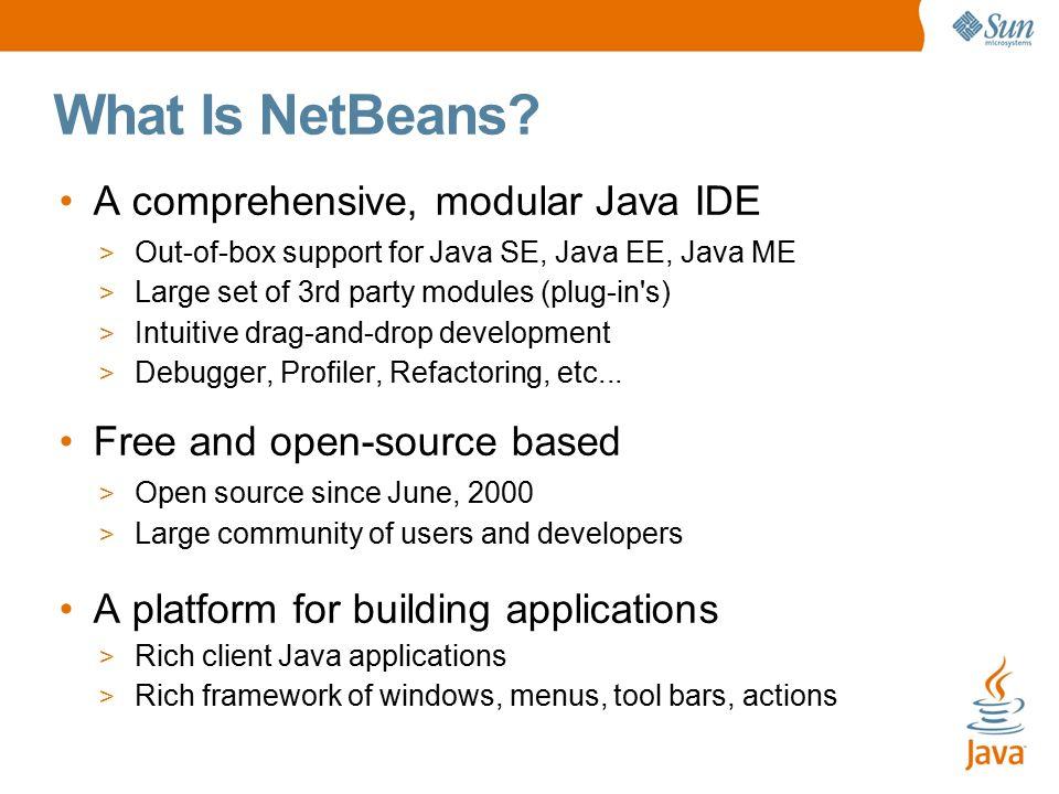 Netbeans ide 6. 0 information.