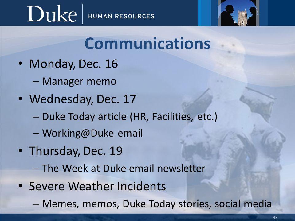 Connecting HR… Serving the Duke Community February 2015 HR Forum