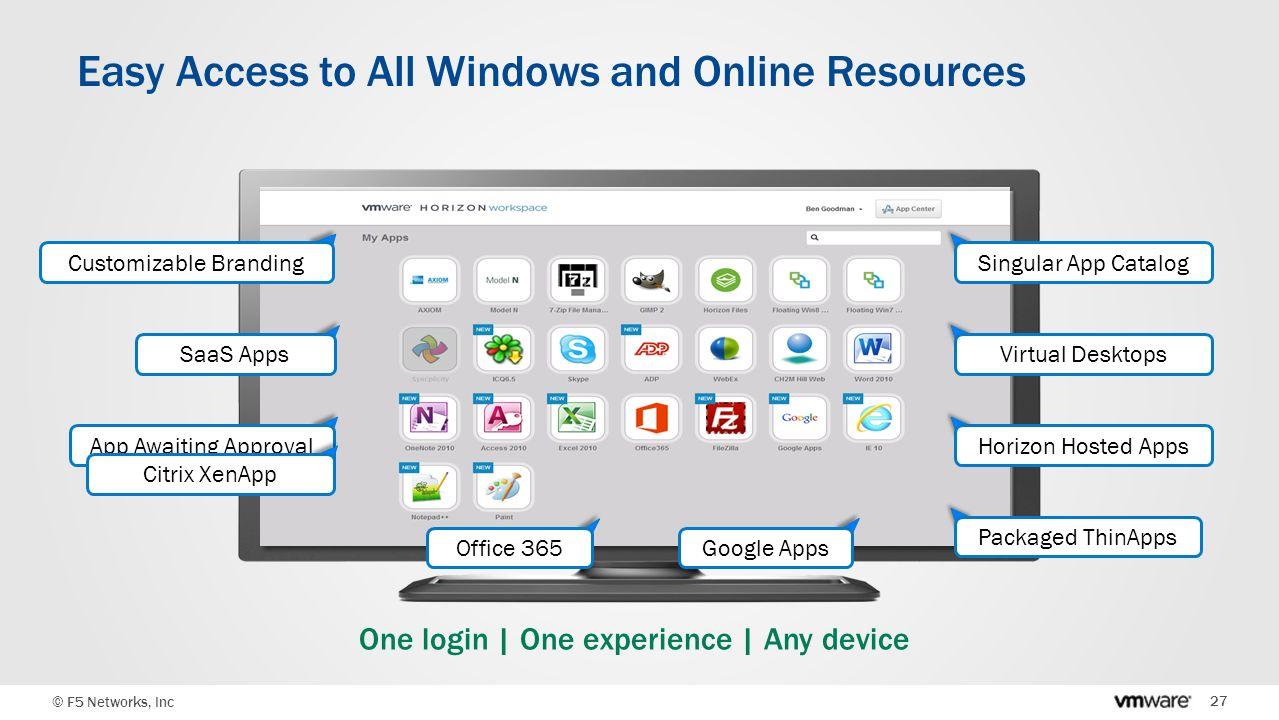 Vmware & F5: Presentación de soluciones para desktop virtual