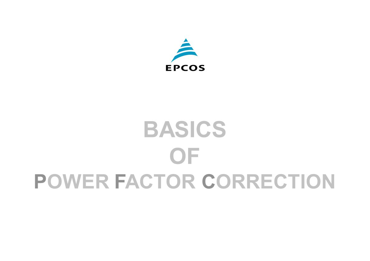 1 March 2001 Epcos Fk Pm Pfc Basics Of Power Factor Correction Meter Circuit