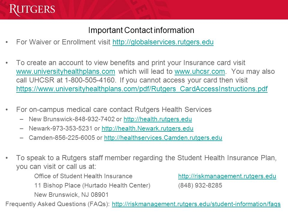 Office Of Student Health Insurance Ppt Download