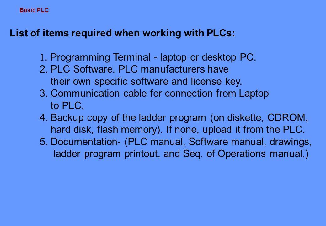 Basic PLC 1 2 Description This training introduces the basic