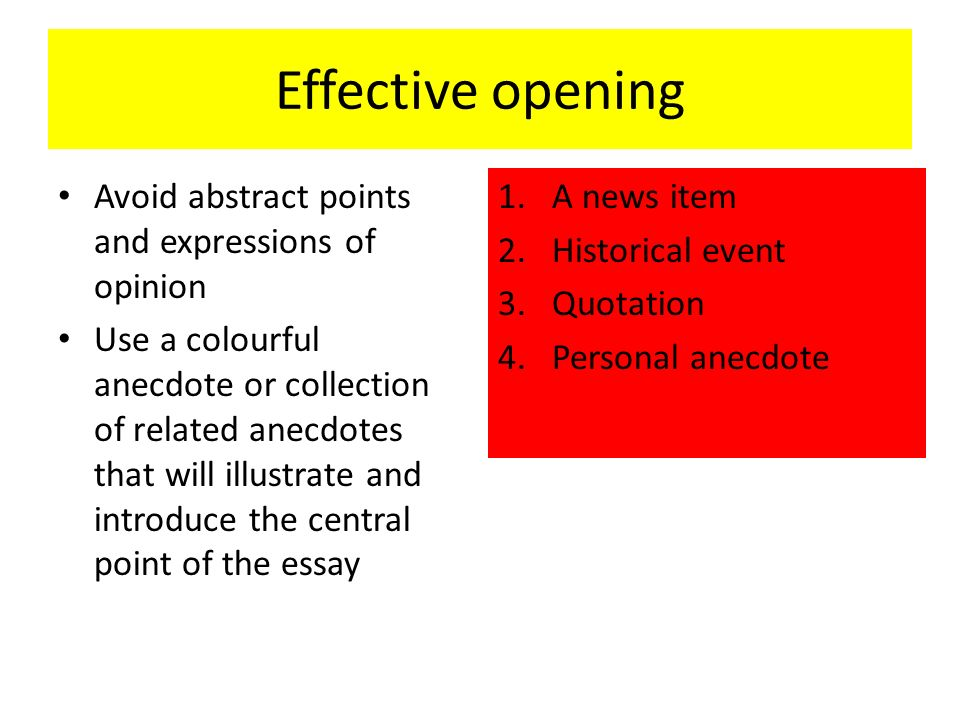 Expressions Of Opinion Use A Colourful Anecdote Or Collection Related Anecdotes That Will Illustrate And Introduce The Central Point Essay 1