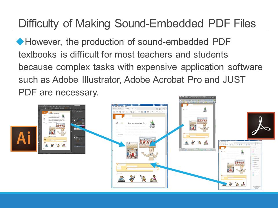A Simple Viewer and Editor of Sound-Embedded PDF for Elementary