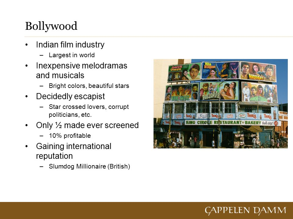 The 24/7 World (Chapter 2 – pp )  Hollywood – a global brand