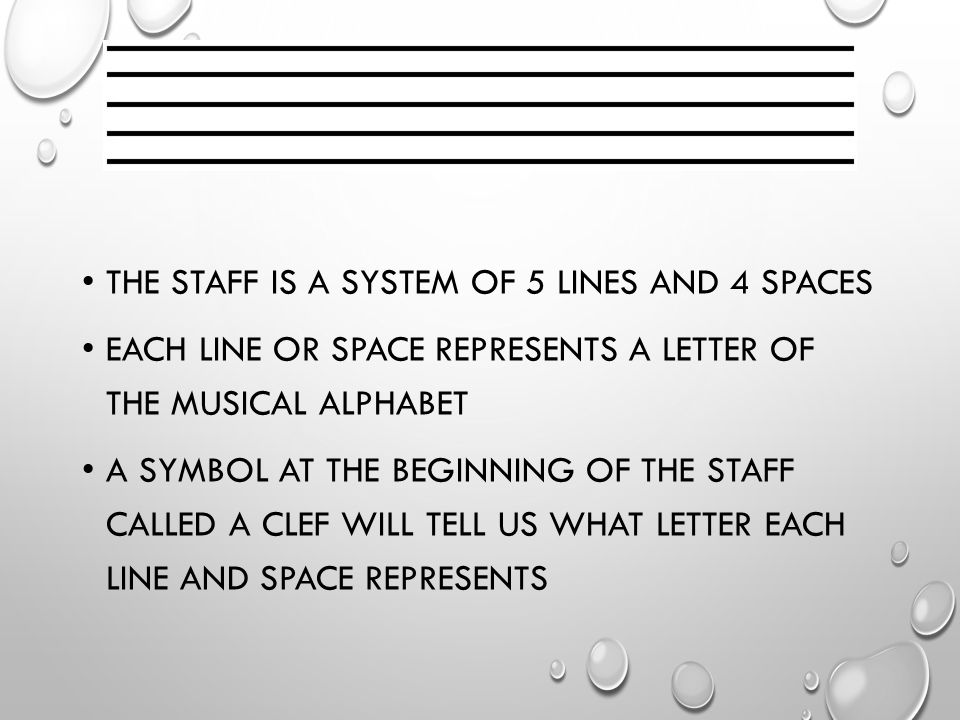 The Musical Staff How Does The Staff Tell Us What Notes To Play