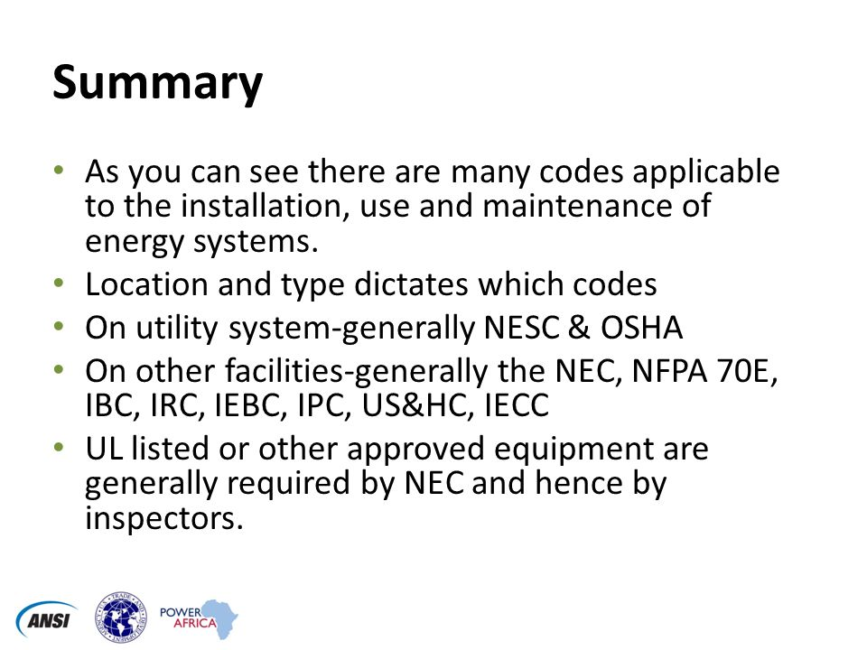 Emerging Electrical Codes for Renewable Energy Sources Mark Konz PE ...