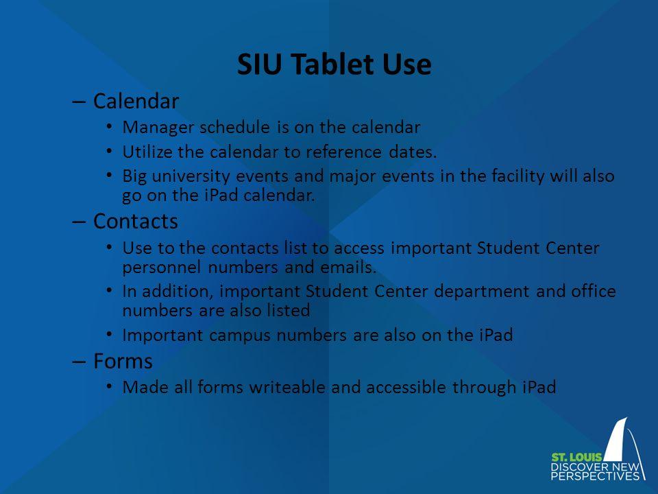 Siuc Calendar.Initiating Paperless Practices In A College Union Sarah Vanvooren