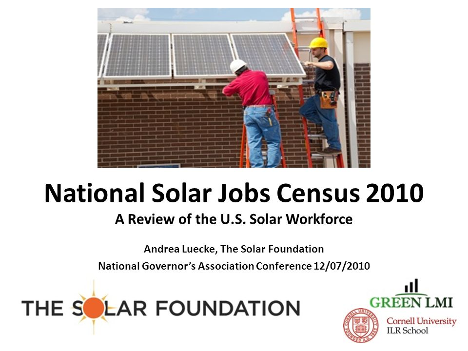 National Solar Jobs Census 2010 A Review of the U S  Solar Workforce