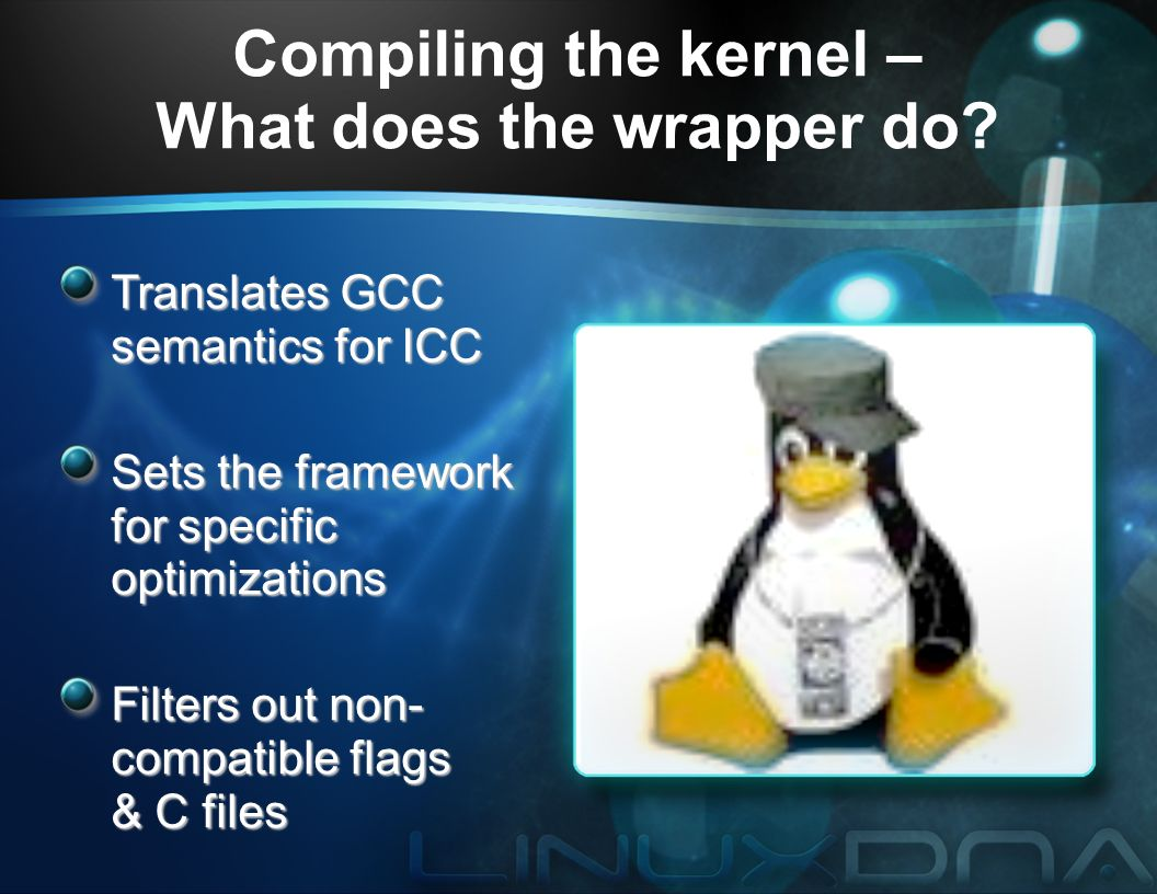 ICC Optimization for the Linux Kernel and Linux Operating