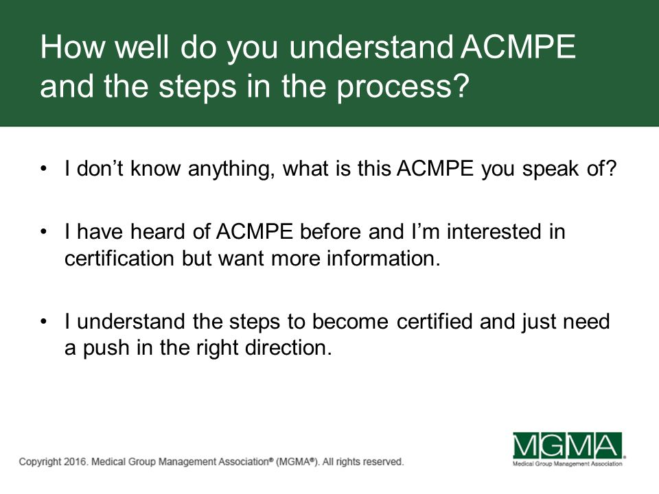Promoting Your Professional Development with ACMPE Tracy Bird ...