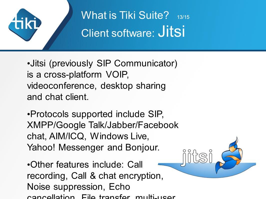 Tiki Suite Conférence en Français sur support en Anglais (this is
