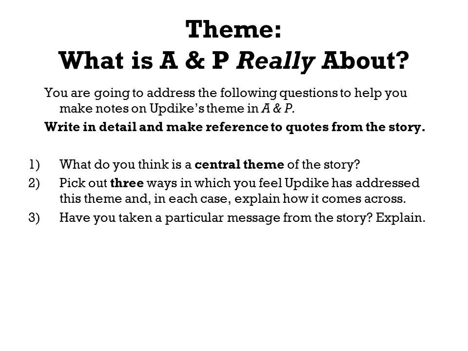 a&p john updike theme