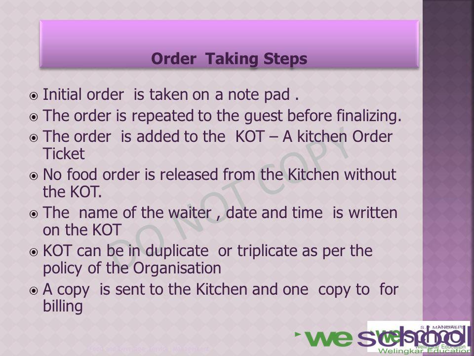 Unit 5 Unit 5 Food And Beverage Service Management Ppt Download