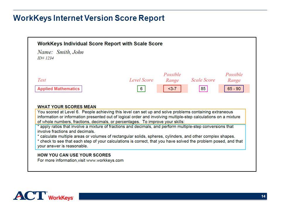 understanding and using workkeys scores high school students ppt rh slideplayer com WorkKeys Study Guide PDF WorkKeys Math Study Guide