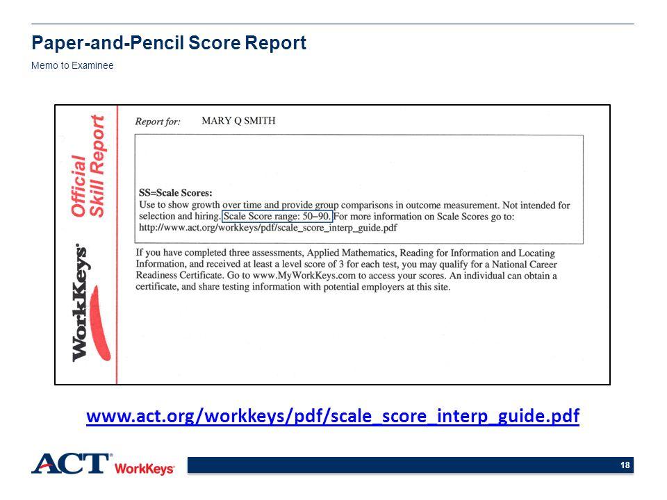understanding and using workkeys scores high school students ppt rh slideplayer com WorkKeys Test WorkKeys Pre-test