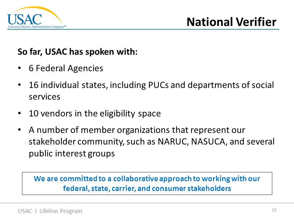 Lifeline Modernization and Consumers National Association of