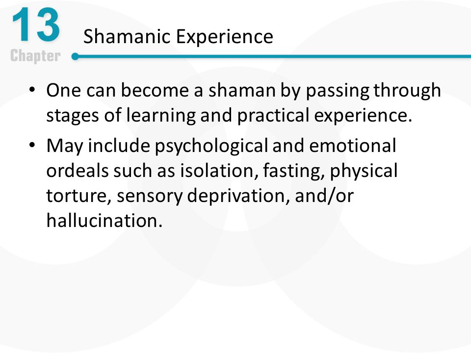 Chapter 13 Spirituality, Religion, and Shamanism  - ppt download