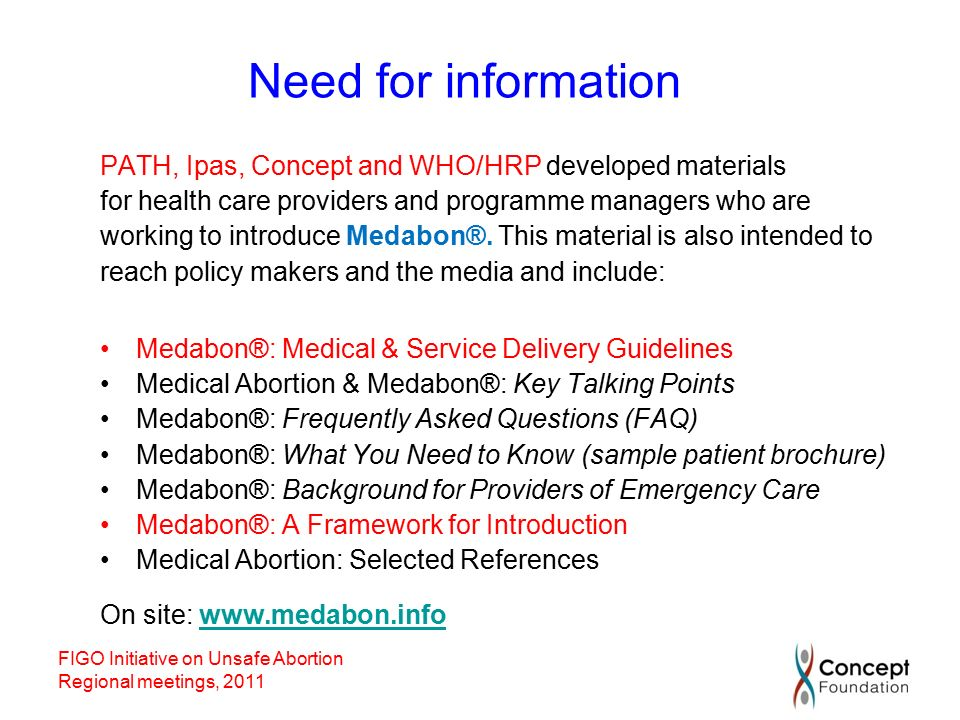 frequently asked clinical questions about medical abortion who