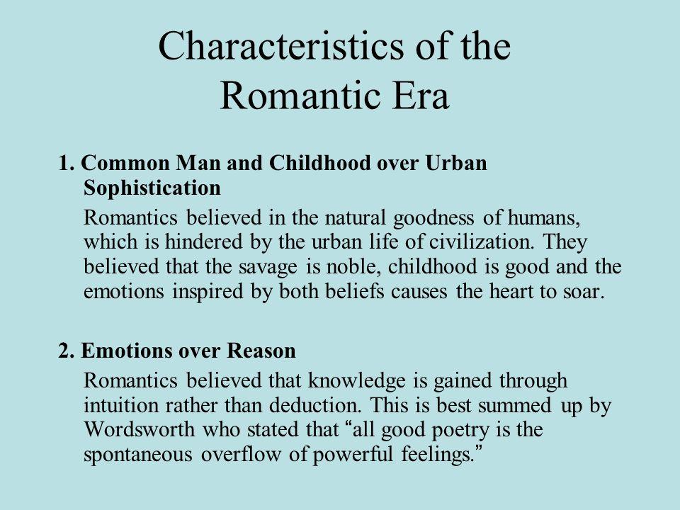 characteristics of romanticism in english literature
