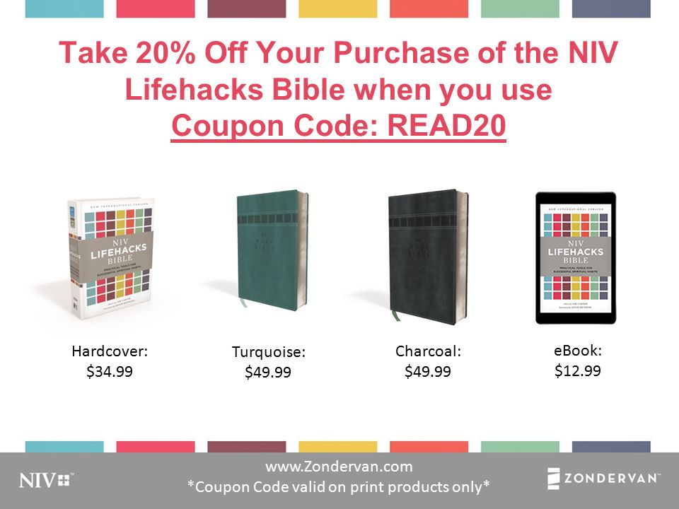 Pra ct ica l t ips for godly habit s lifehacks practical tips for zondervan coupon code valid on print products only hardcover 3499 turquoise 4999 charcoal 4999 ebook 1299 fandeluxe Gallery