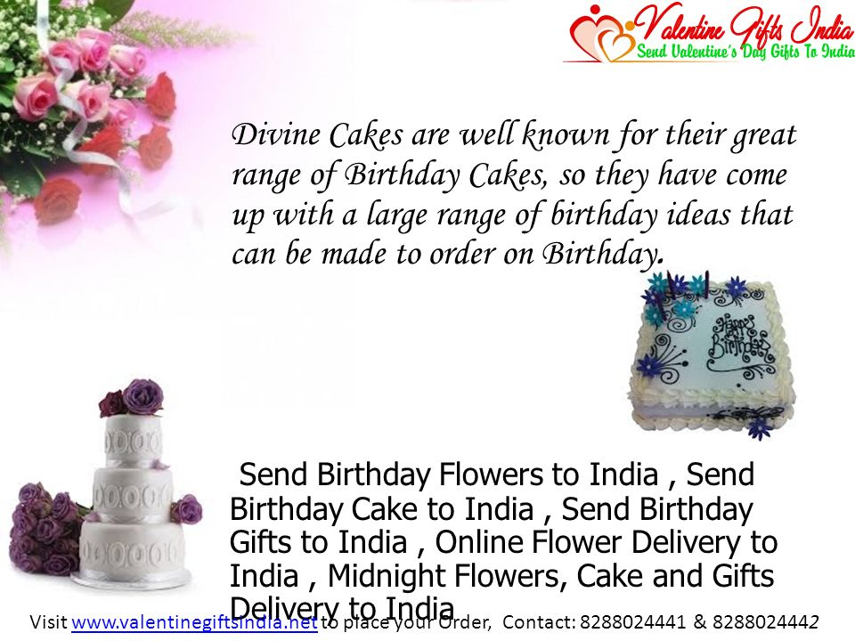 Range Of Birthday Cakes So They Have Come Up With A Large Ideas That Can Be Made To Order On Send Flowers India