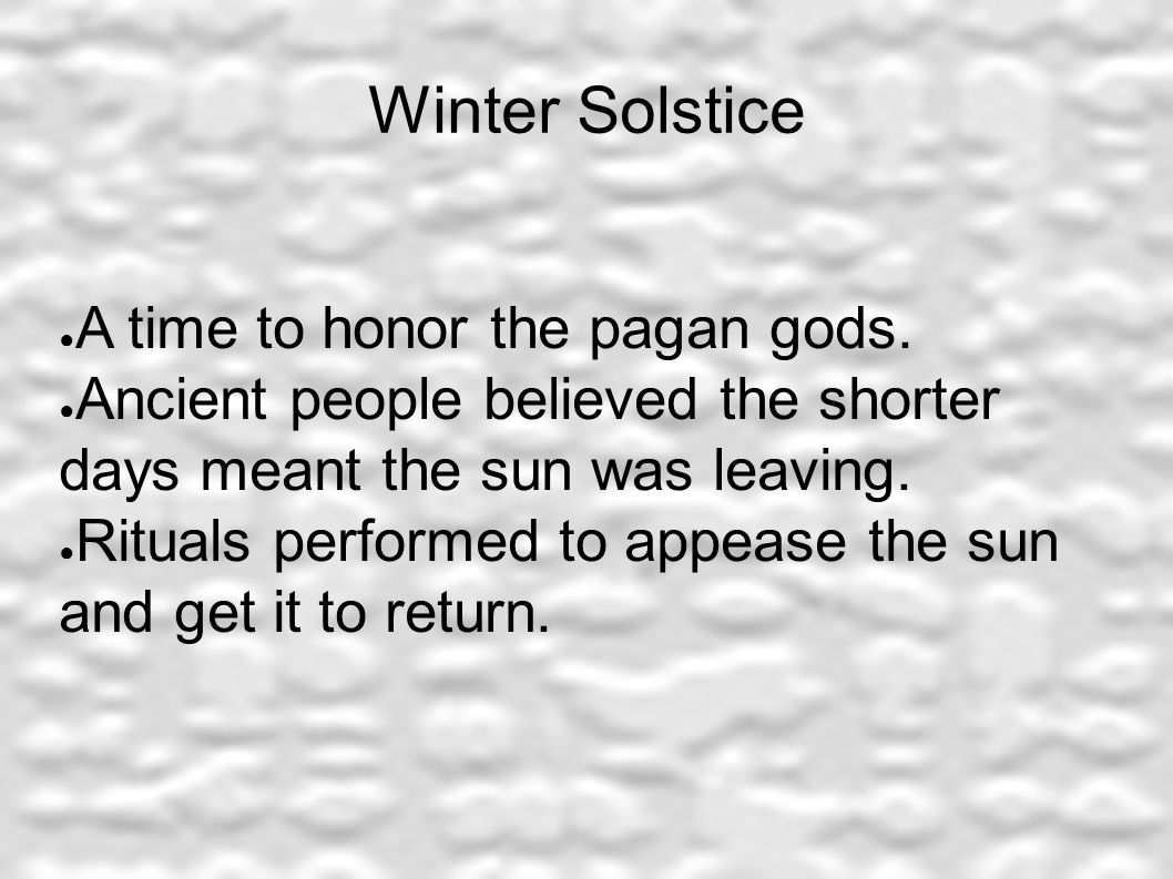 The History of Holiday Symbols. Winter Solstice ○ A time to honor ...