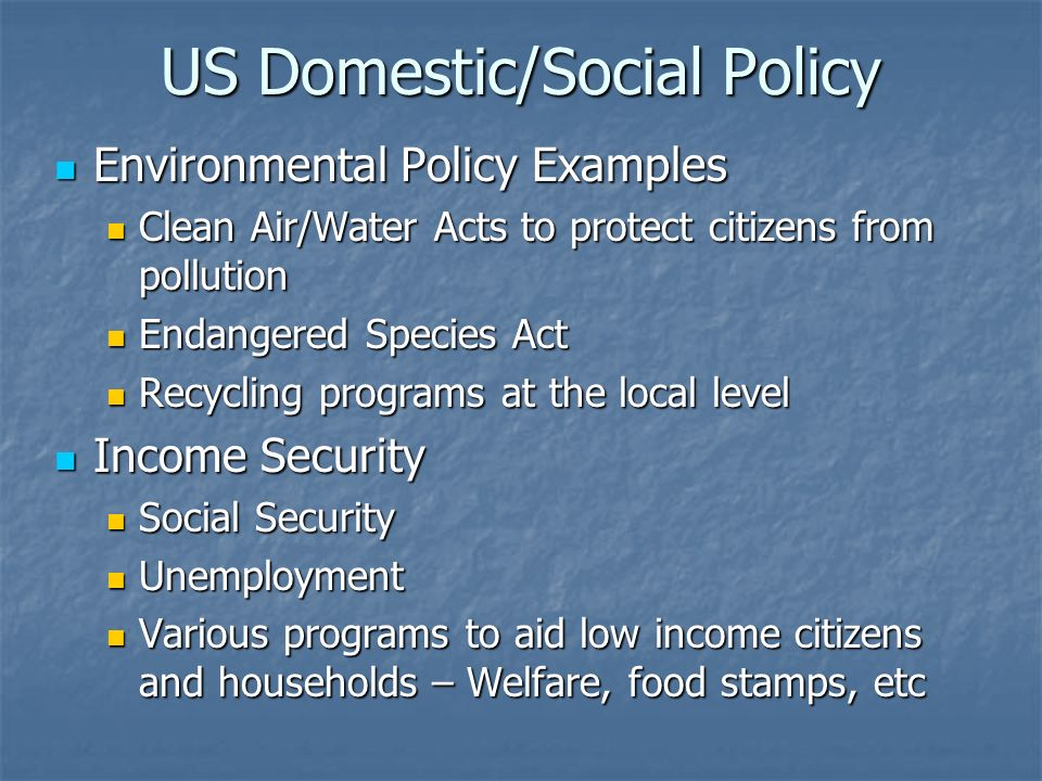 Examples Of Social Policy >> Us Domestic Social Policy Ladson Ap Us Gov Us Domestic