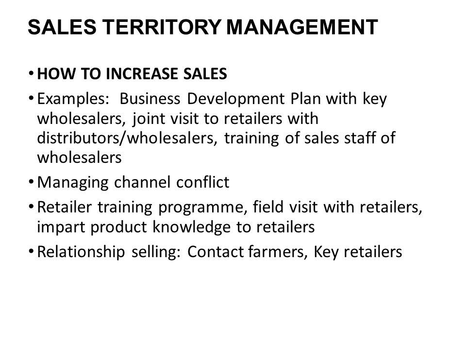 MANAGING THE SALES TERRITORY. SALES FUNCTION Sales, Sales, Sales ...