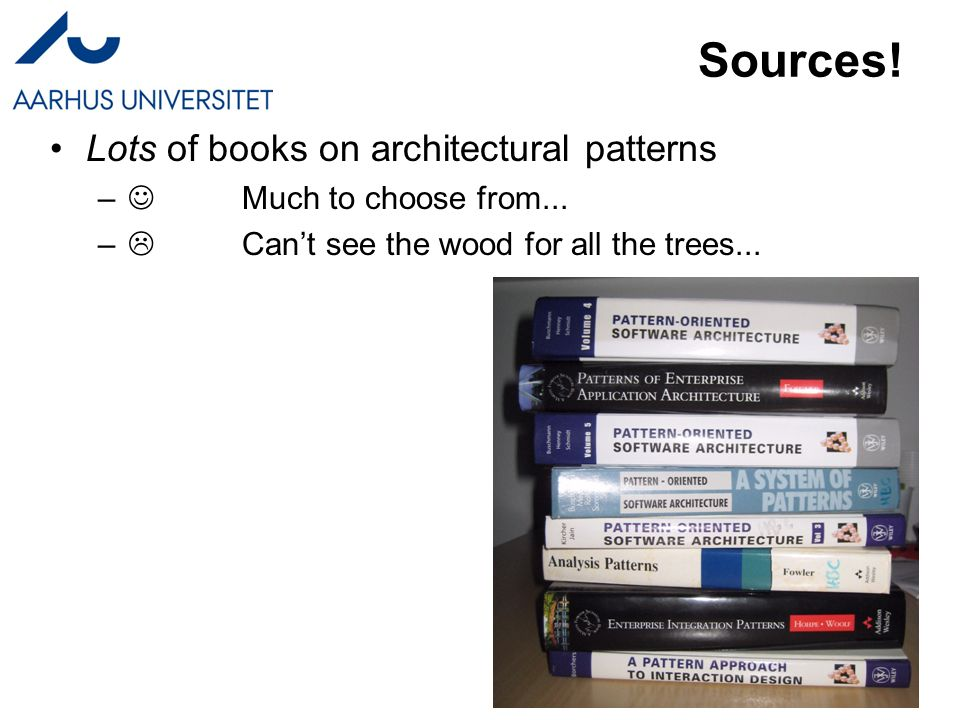 Software Architecture in Practice Architectural Patterns