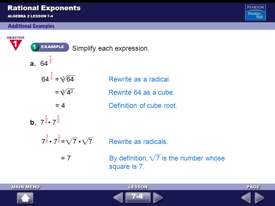 Ch 74 Rational Exponents P If The Nth Root Of A. 3 Rational Exponents. Worksheet. 11 1 Practice Worksheet Rational Exponents Answers At Clickcart.co