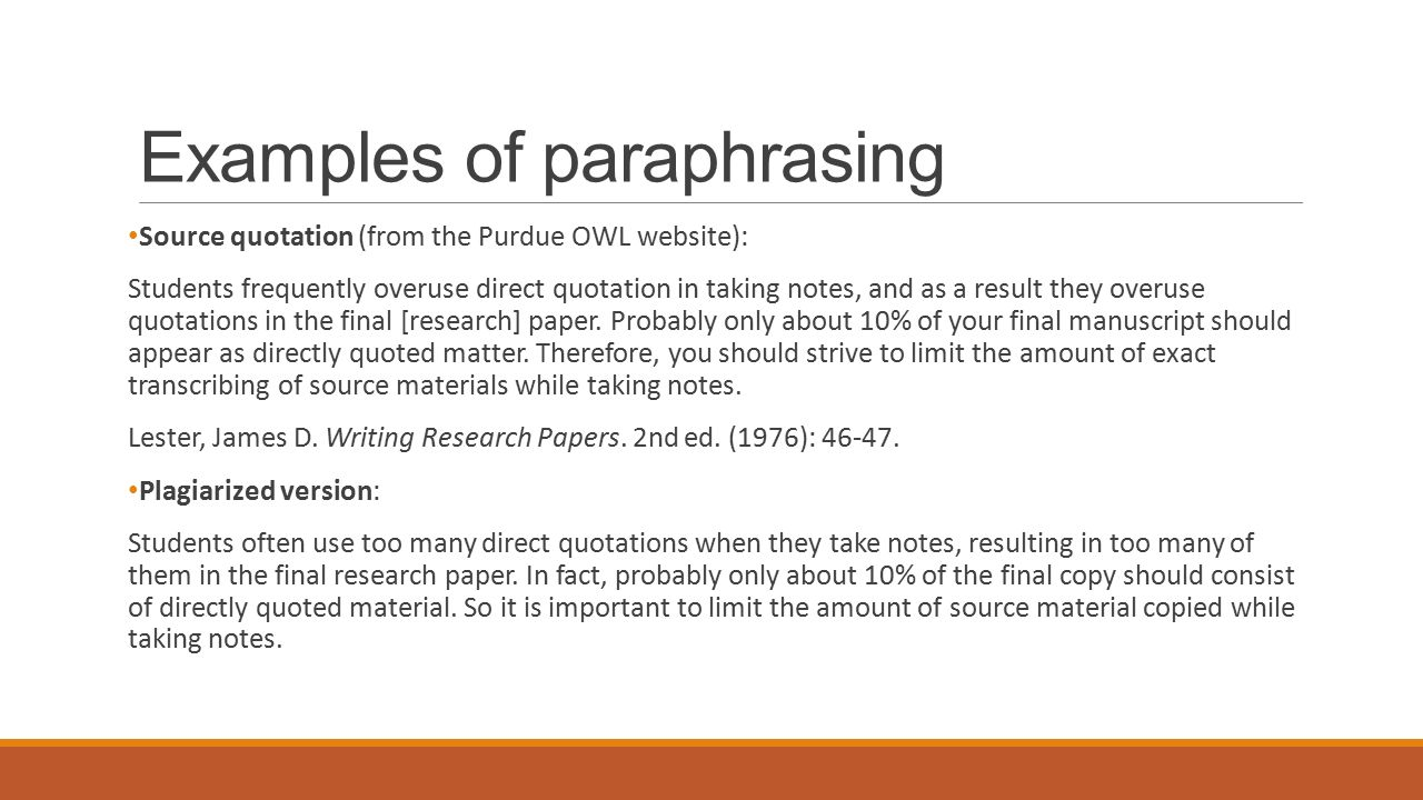 paraphrasing essays Writing summaries and paraphrases  the ability to summarize and paraphrase is an essential academic skill summaries and paraphrasing help substantiate ideas in research papers without the need to quote every word from source material.
