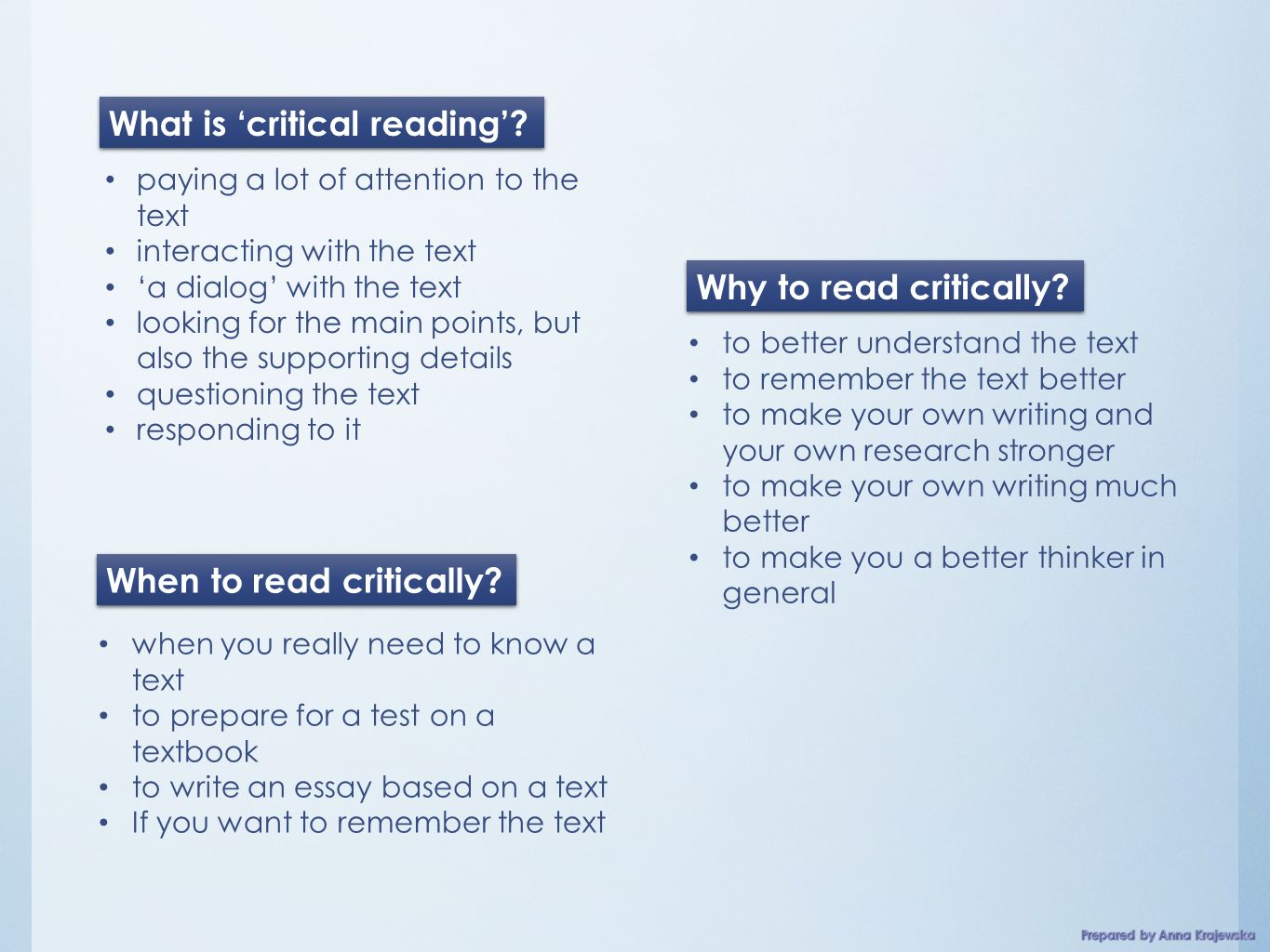 Critical Reading Introduction Lesson Aims To Expand The   Paying
