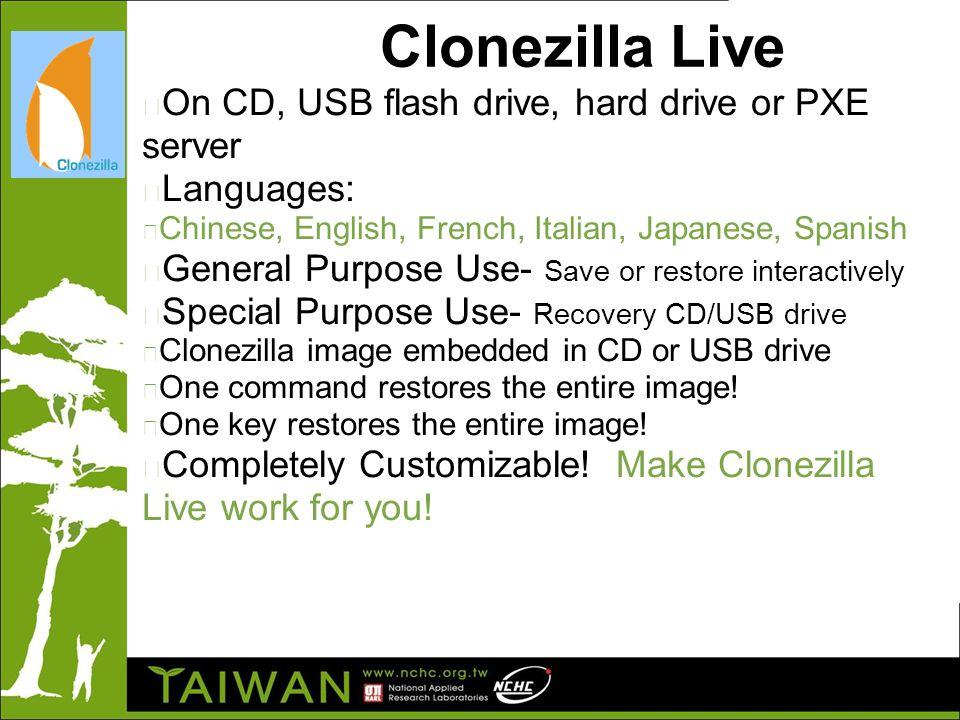 Clonezilla Clone As Free As You Want Steven Shiau, Ceasar