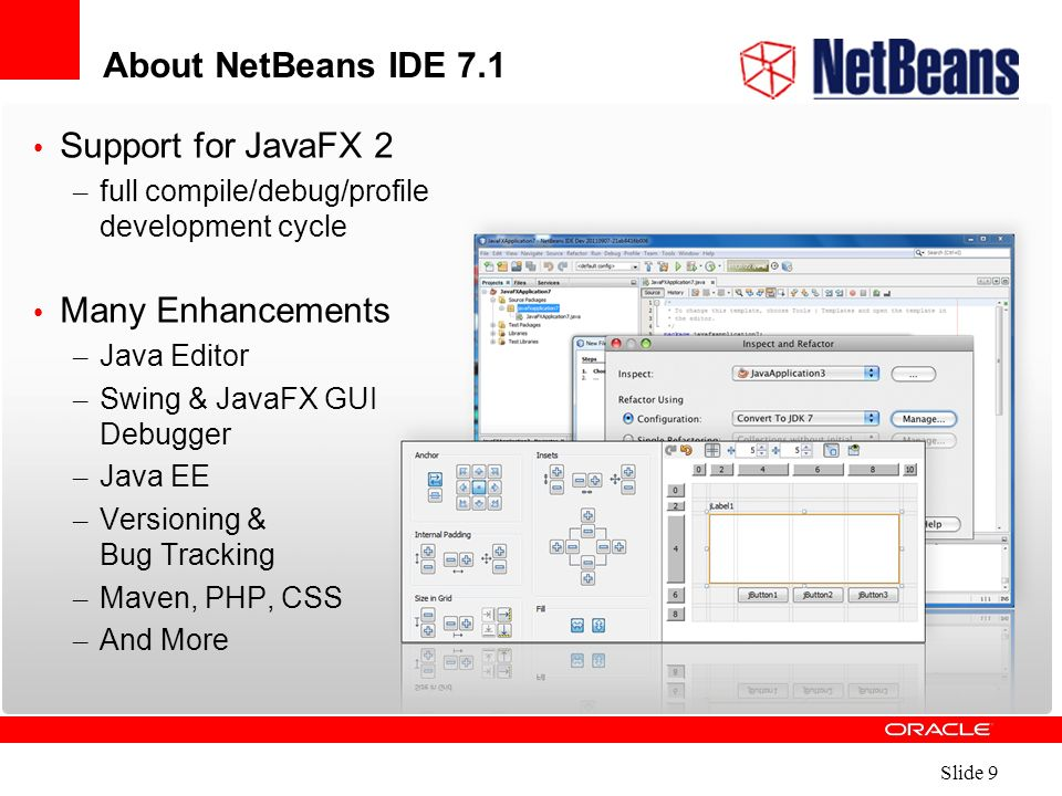 Slide 1  What's New in NetBeans IDE 7 1 Name Title  - ppt