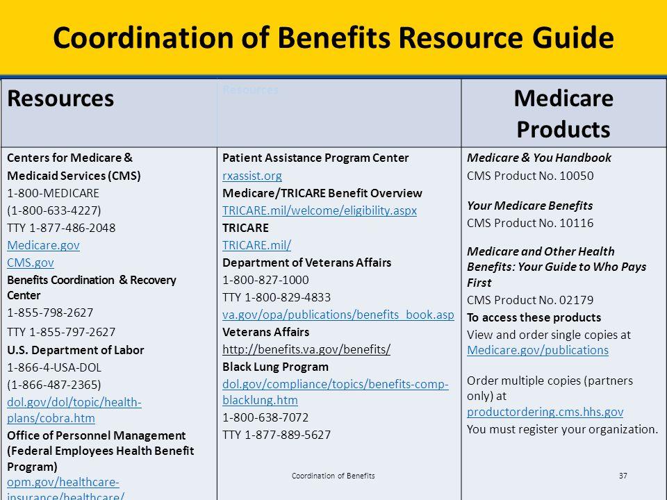 2016 national training program module 5 coordination of benefits