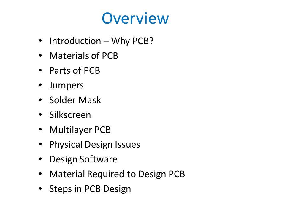 ECE 404 PCB Design Presentation -Deependra Mishra  - ppt