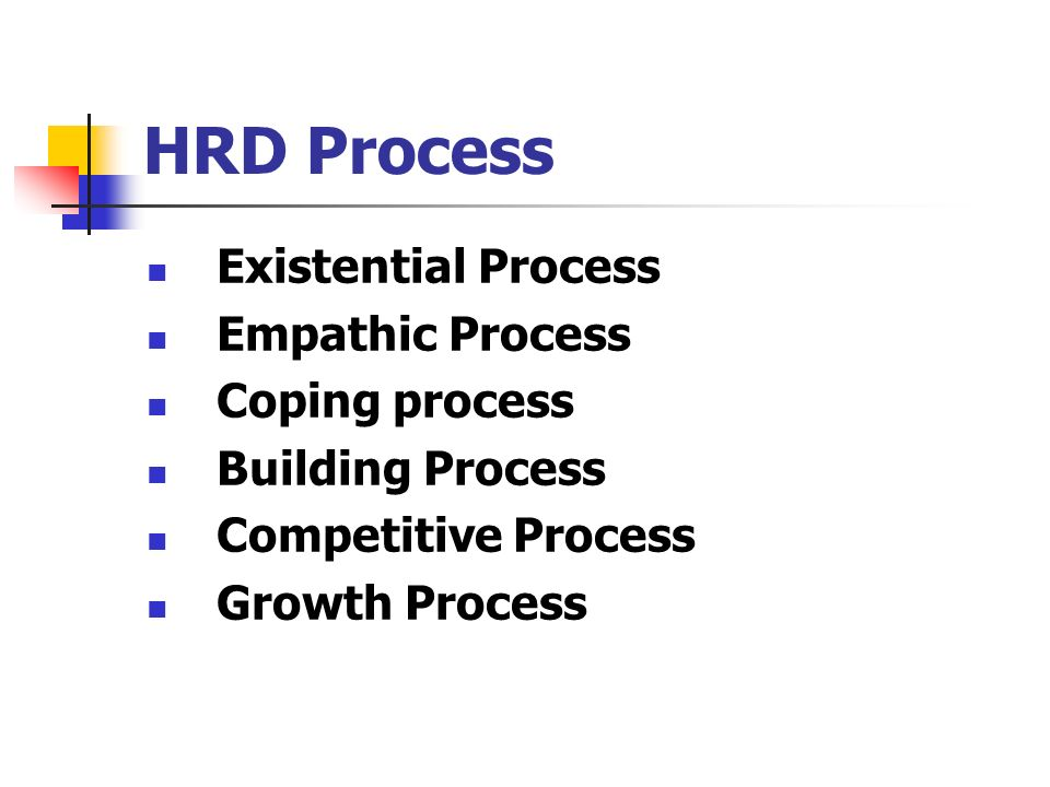 hrd processes and outcomes